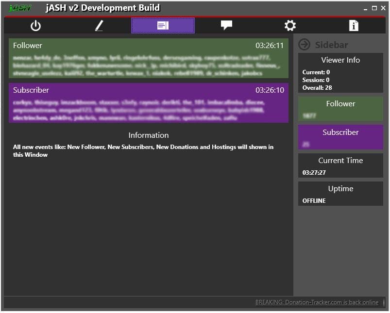 jASH v2 - Event Tab
